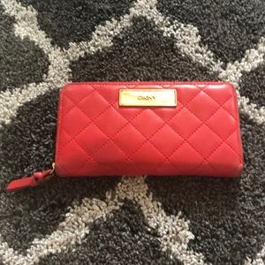 DKNY Red Leather Wallet